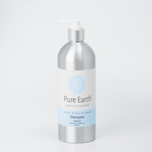 Pure Earth Natural Shampoo with Lavender and Rosemary in eco-friendly, refillable 500ml bottle