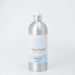 Pure Earth Natural Body Wash with Lavender and Rosemary in refillable, eco-friendly 500ml Aluminium bottle