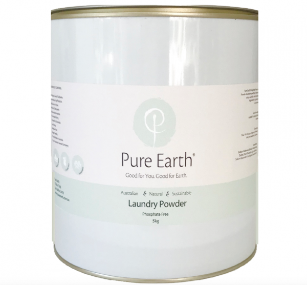 Pure Earth Natural Phosphate Free Laundry Powder in 5kg drum