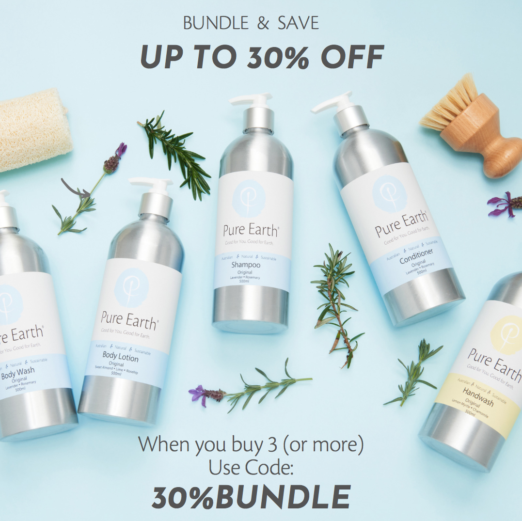 Pure Earth Natural Products bundle and save 30%